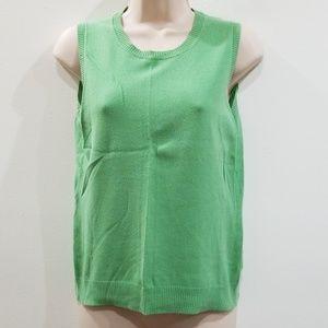 Cherokee women's green sleeveless sweater top